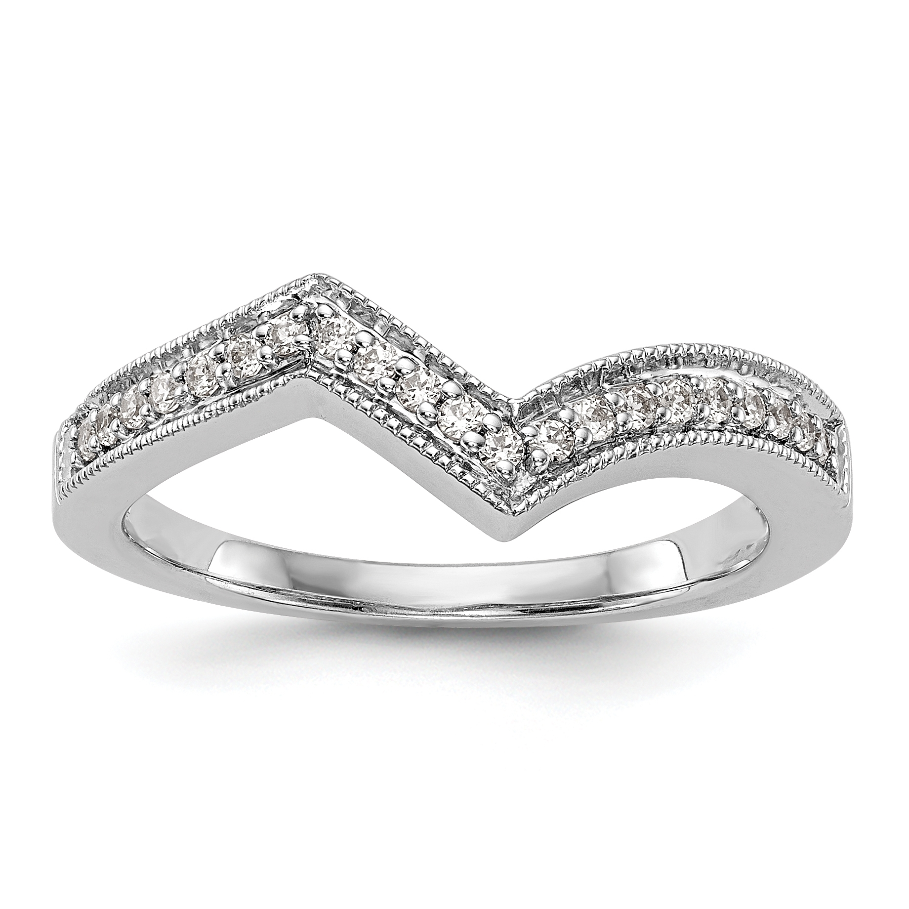 14K White Gold Contour Wedding Band Mounting Intended For Recent Diamond Contour Wedding Bands In 14K White Gold (View 1 of 15)