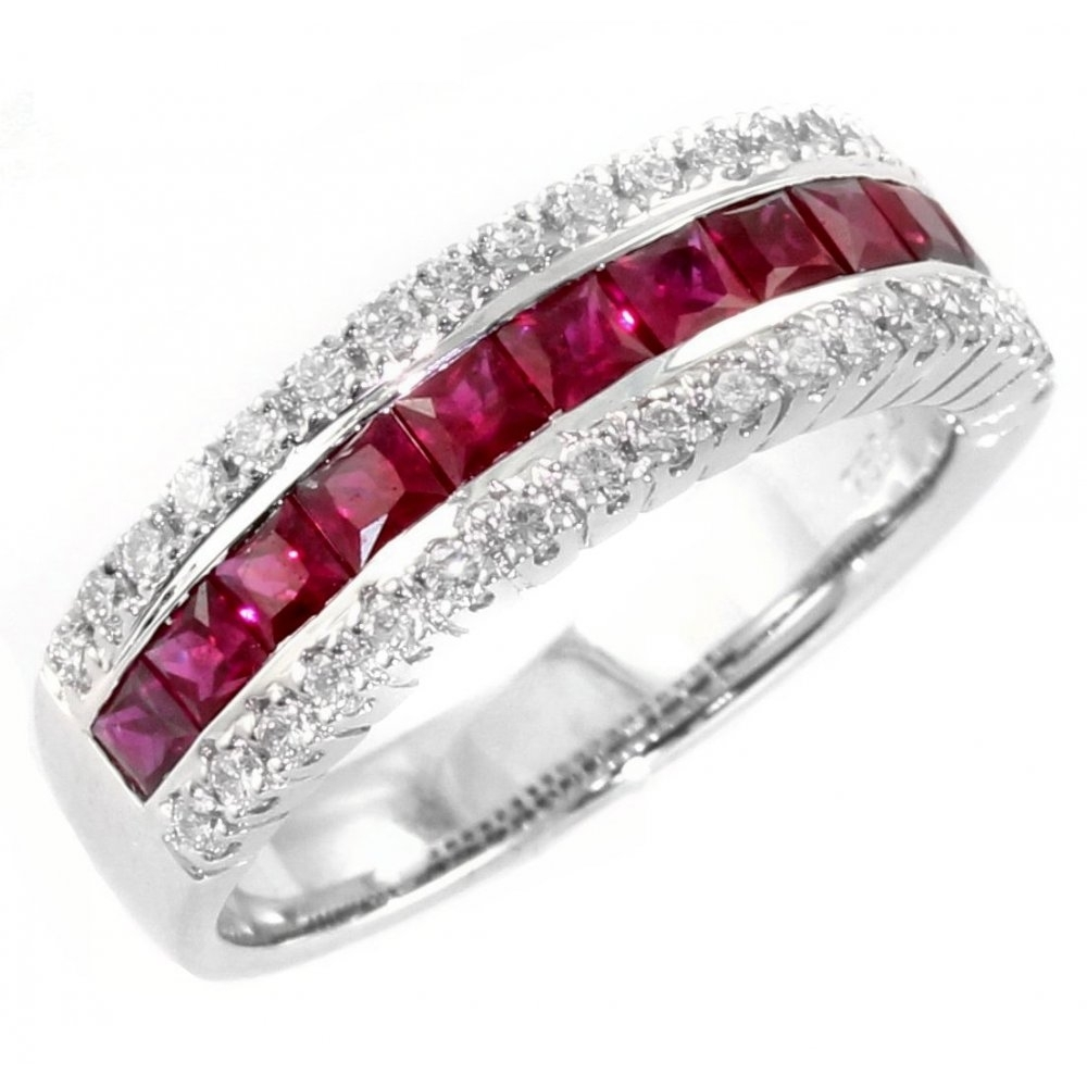 18Ct White Gold 1.17Ct Ruby &  (View 1 of 15)