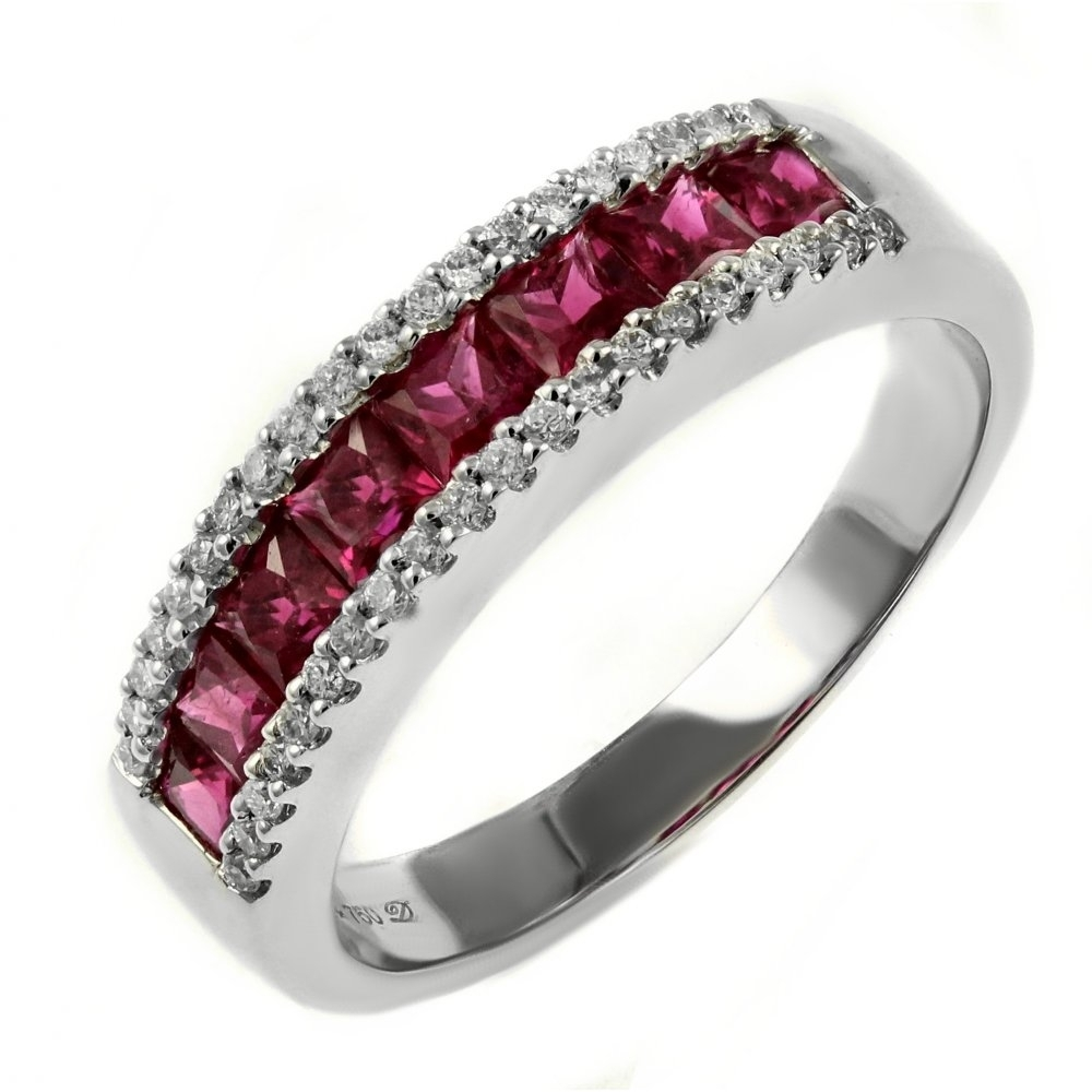 18Ct White Gold 1.20Ct Ruby &  (View 2 of 15)