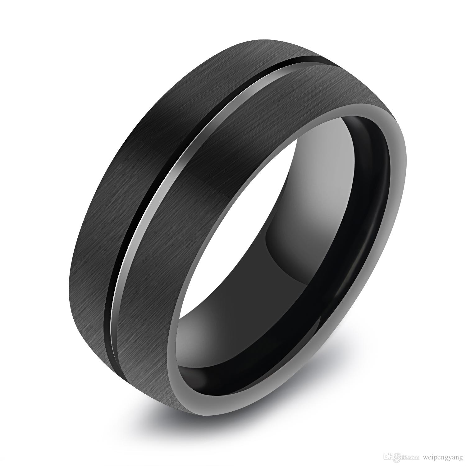 2018 8mm Mens Black Tungsten Ring Domed Surface Tungsten Carbide With Most Recent Tungsten Wedding Bands (View 8 of 15)