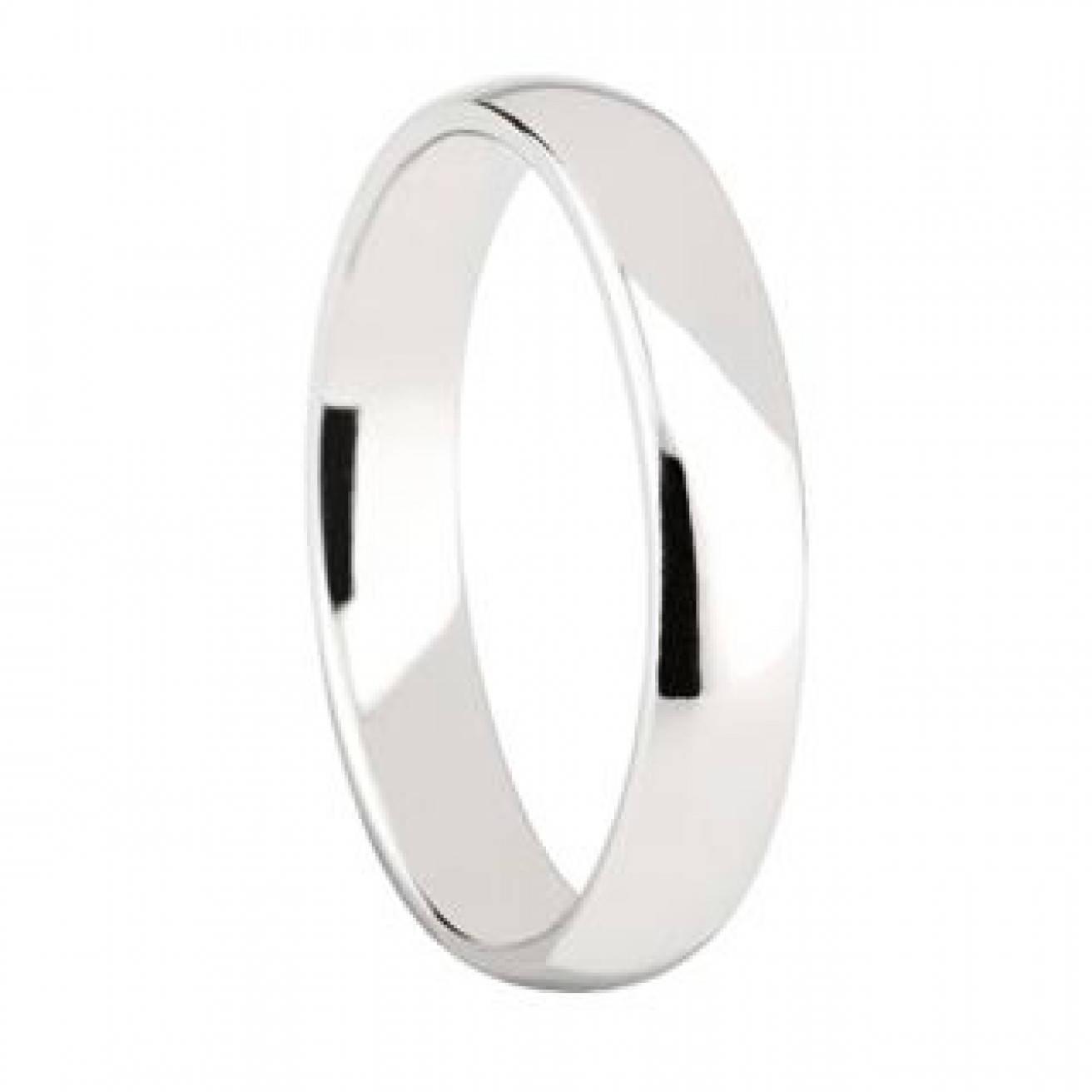4 Mm Cobalt Chrome Domed Shape Polished Ring Wedding Band – Comfort Fit With 2017 Polished Comfort Fit Cobalt Chrome Wedding Bands (Gallery 6 of 15)