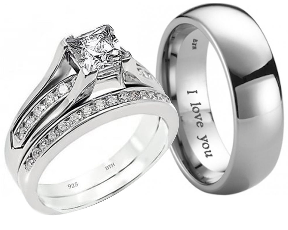 49 His And Hers Wedding Bands Sets, His And Hers Wedding Bands With Regard To 2017 His And Her Wedding Bands Sets (View 5 of 15)
