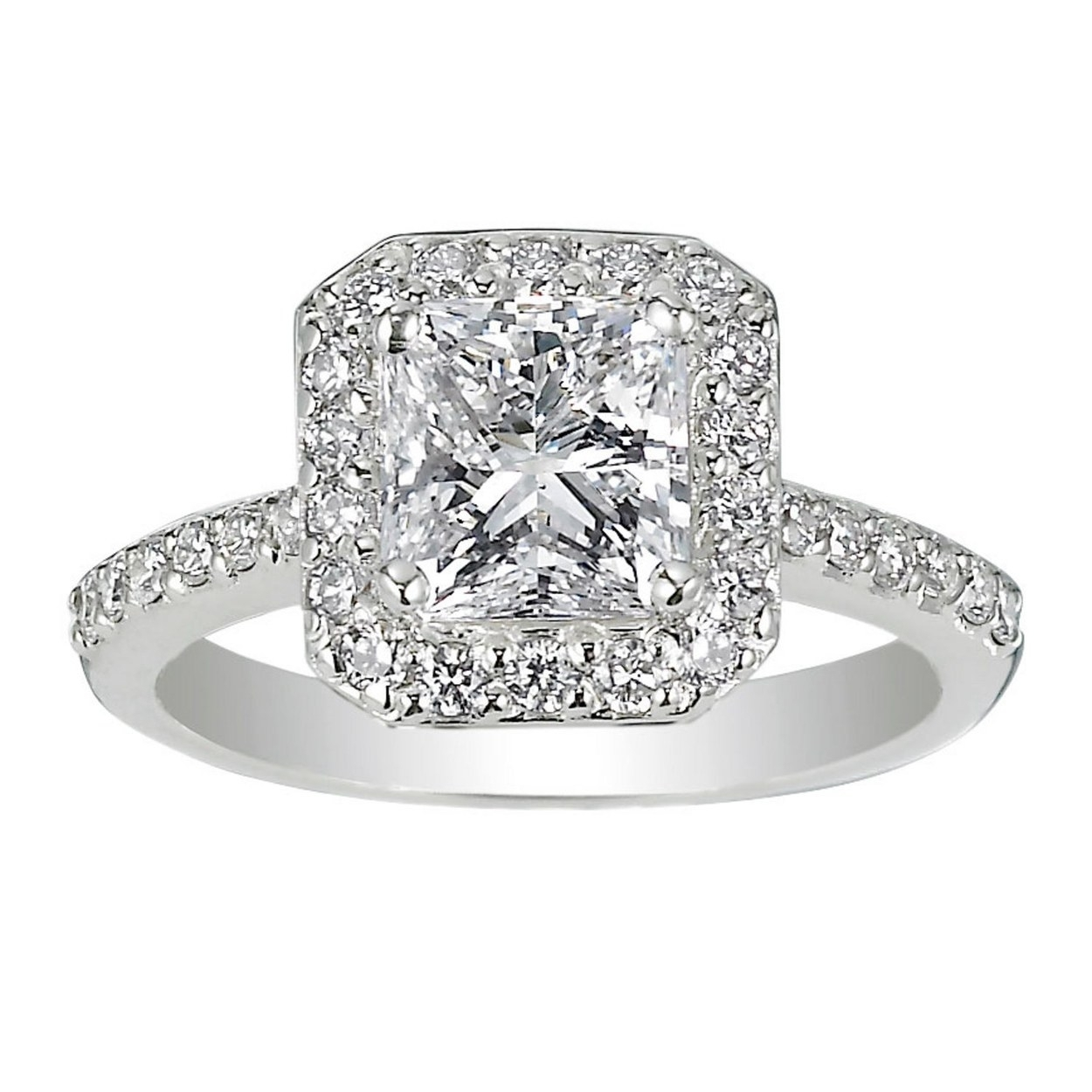 62 Diamond Engagement Rings Under $5,000 | Glamour Regarding Most Up To Date Oval Diamond Double Frame Twist Vintage Style Bridal Rings In 14k White Gold (View 3 of 15)