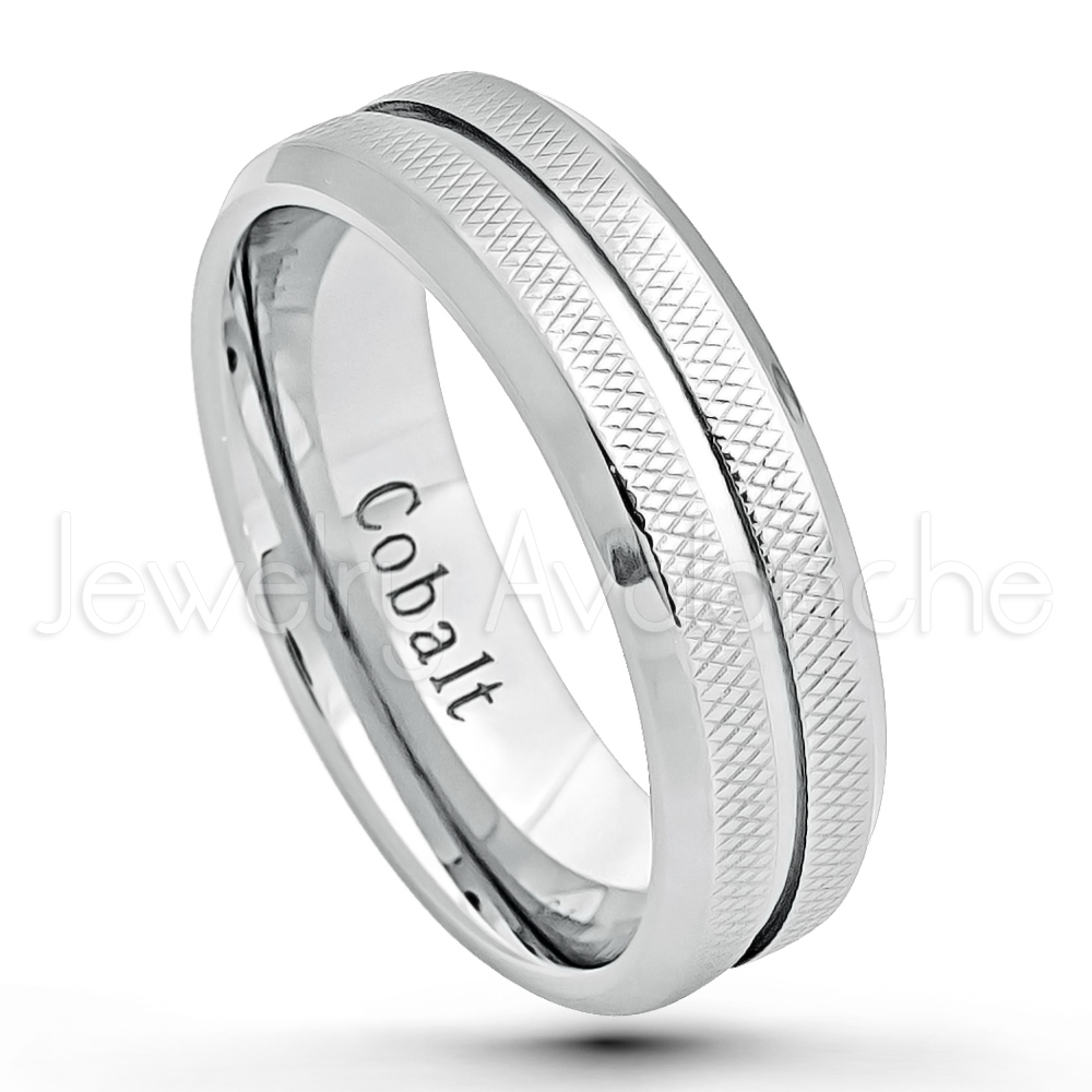 7mm Cobalt Wedding Band – Polished Finish Comfort Fit Diamond Cut Intended For Most Up To Date Polished Comfort Fit Cobalt Chrome Wedding Bands (View 2 of 15)