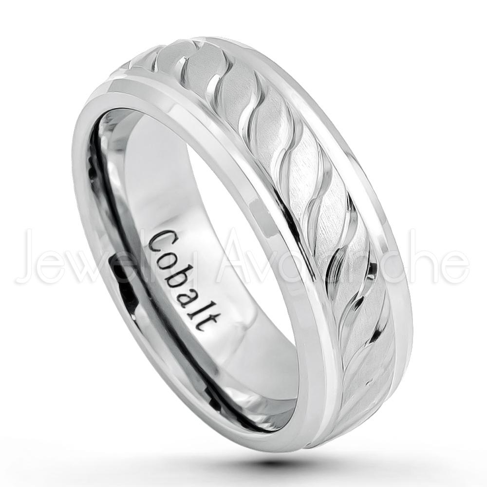8Mm Cobalt Wedding Band – Brushed & Polished Finish Comfort Fit Inside Most Current Polished Comfort Fit Cobalt Chrome Wedding Bands (Gallery 5 of 15)