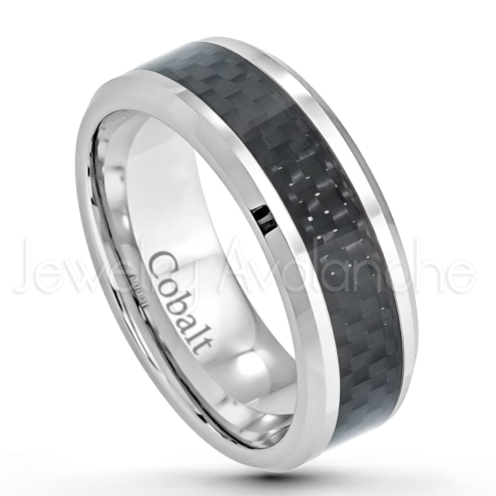 8mm Cobalt Wedding Band – Polished Comfort Fit Beveled Edge Cobalt With Regard To Newest Polished Comfort Fit Cobalt Chrome Wedding Bands (View 3 of 15)
