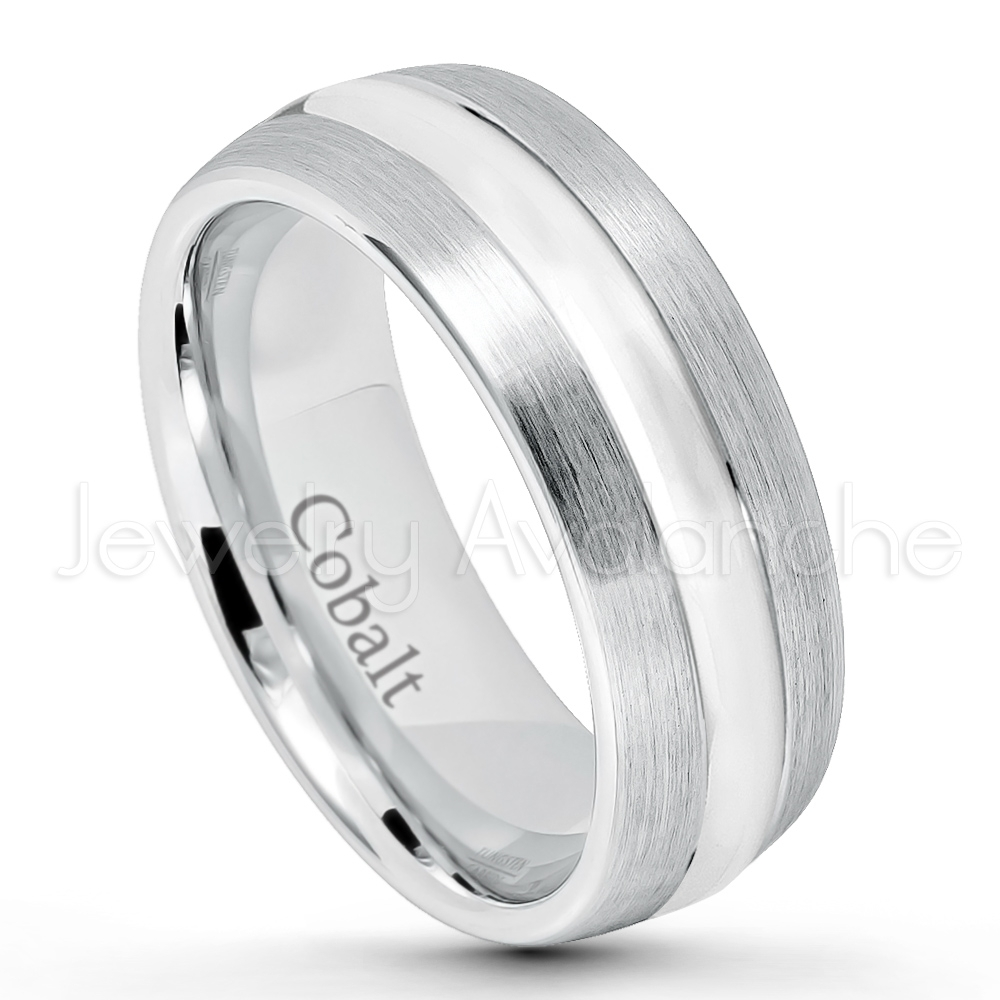 Featured Photo of Polished Comfort Fit Cobalt Chrome Wedding Bands