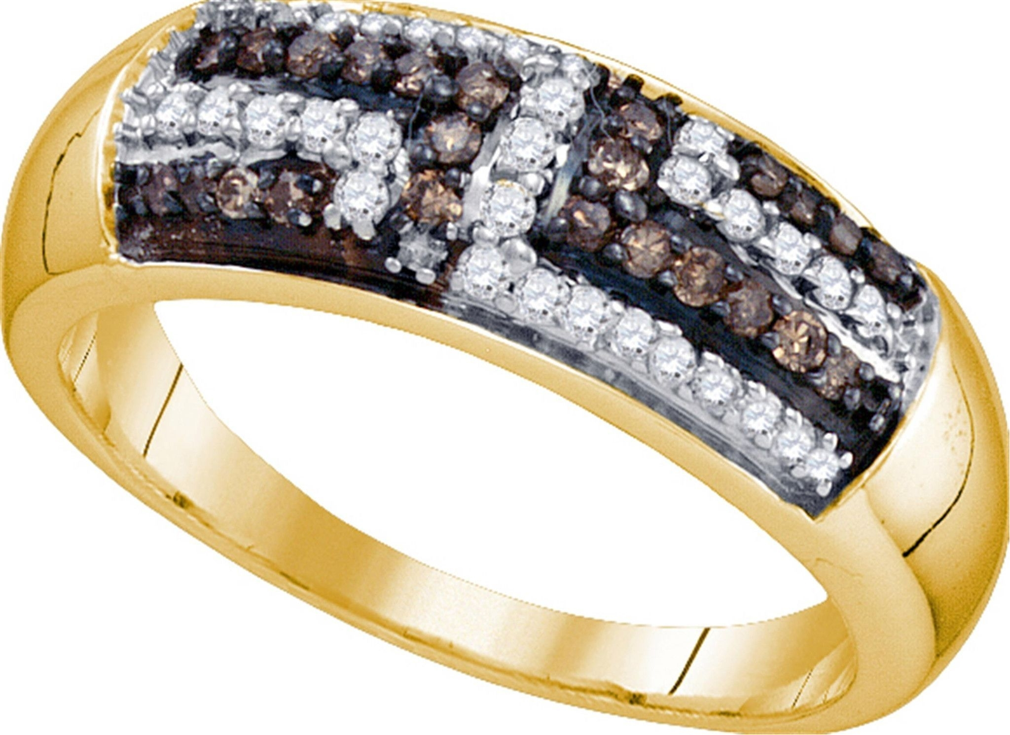 925 Sterling Silver Rhodium Plated Round Cubic Zirconia Beaded Arch Regarding Current Diamond Wedding Bands In Sterling Silver With Yellow Rhodium (Gallery 1 of 15)