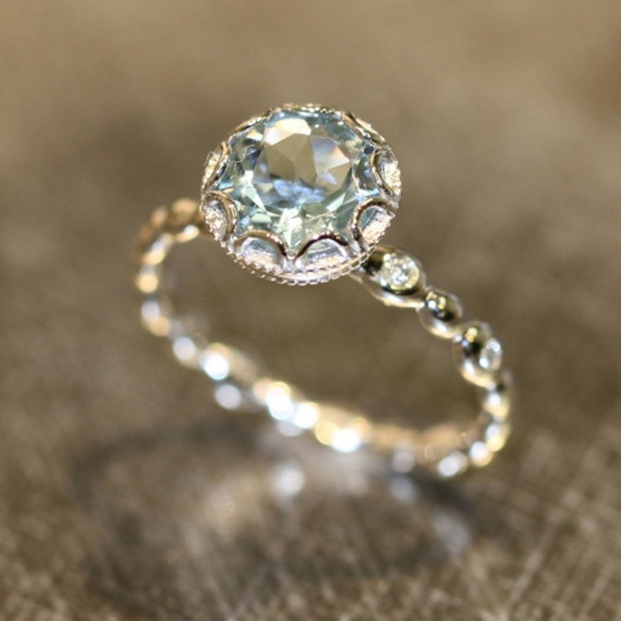 Affordable Engagement Rings Under $1,000 | Glamour With 2017 Vintage Style Non Diamond Engagement Rings (View 4 of 15)
