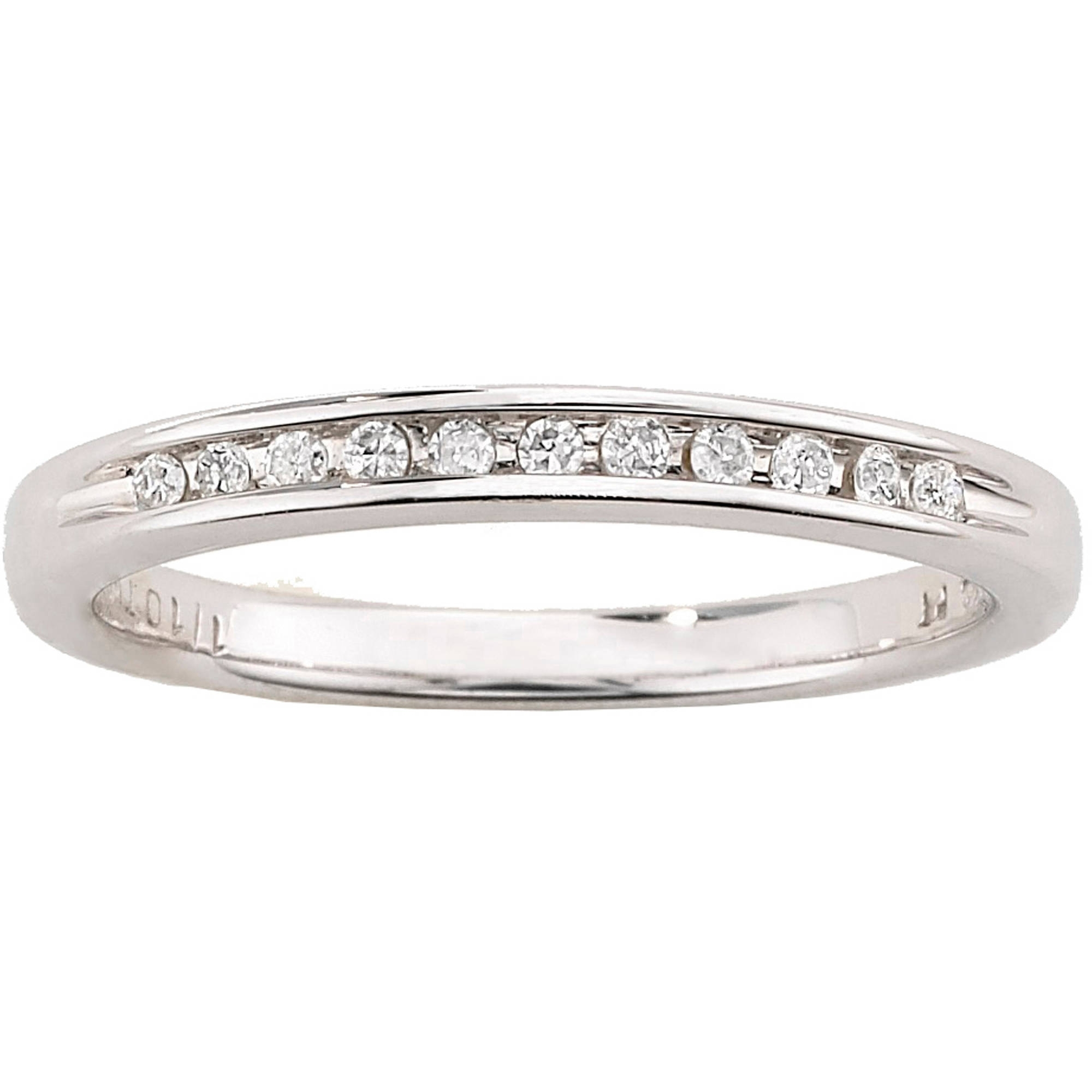Always & Forever Platinaire 1/12 Carat T.w. Diamond Wedding Band Regarding Most Current Diamond Anniversary Bands In Sterling Silver (Gallery 9 of 15)