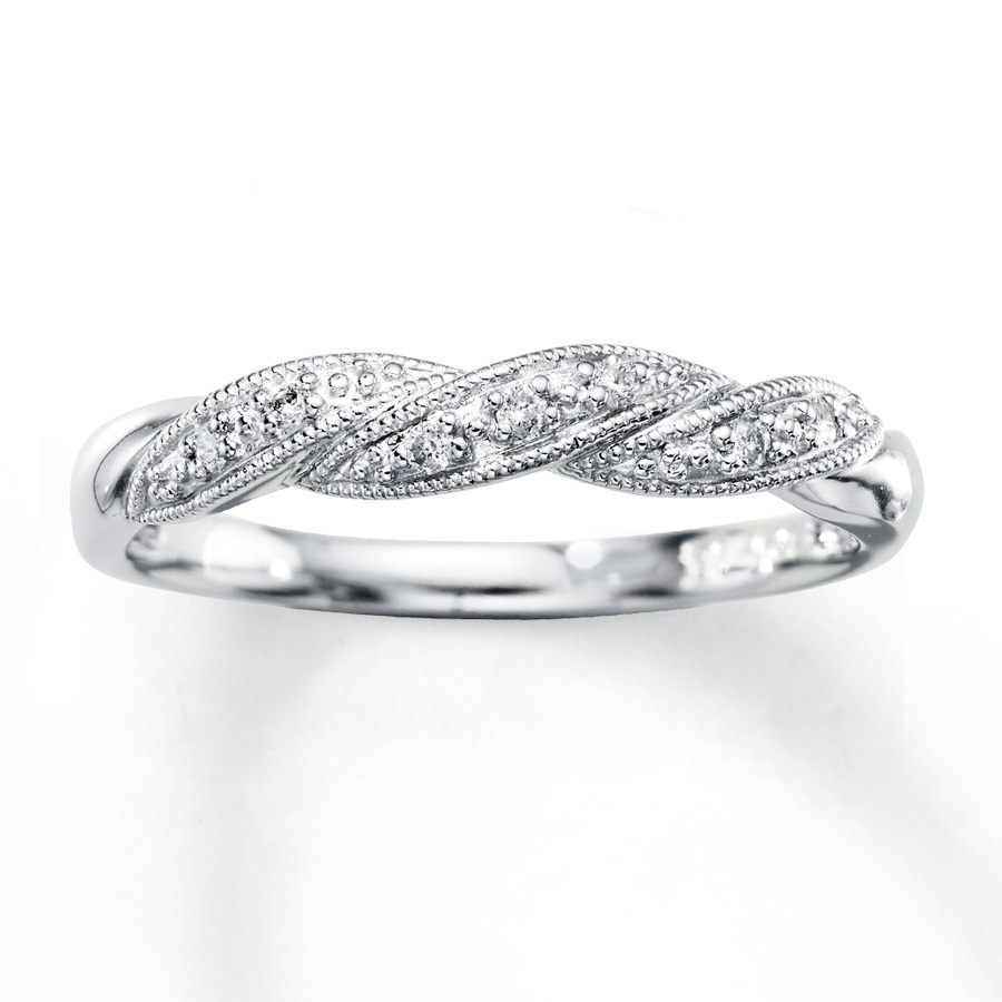 Anniversary Band 1/20 Ct Tw Diamonds 10k White Gold – 532233905 With Regard To Most Popular Diamond And Milgrain Anniversary Bands In 10k White Gold (Gallery 10 of 15)