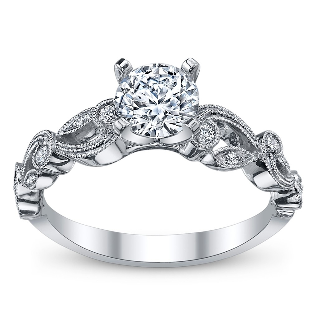 Antique Style Diamond Rings | Wedding, Promise, Diamond, Engagement Regarding Most Up To Date Antique Style Diamond Engagement Rings (View 14 of 15)