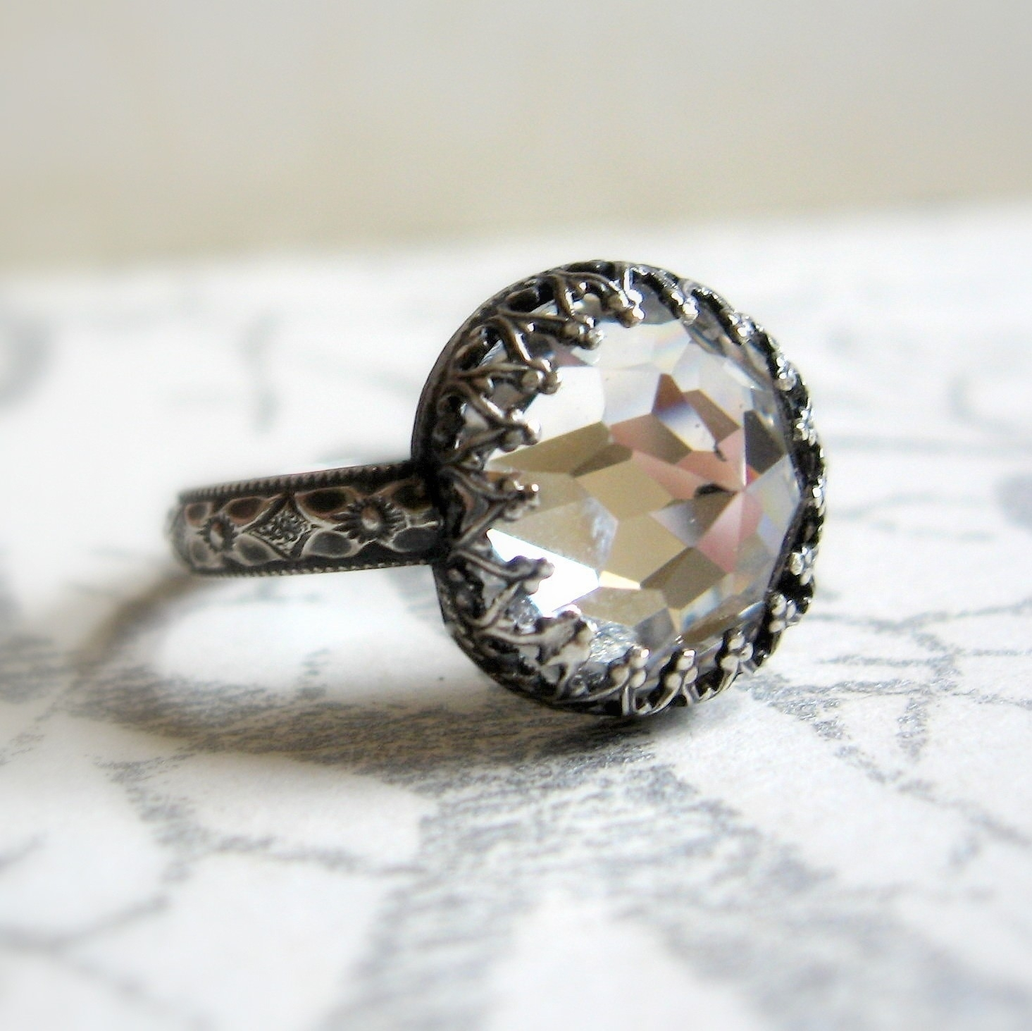 Awesome Vintage Engagement Rings Not Diamond | Vintage Wedding Ideas With Latest Vintage Style Non Diamond Engagement Rings (Gallery 4 of 15)