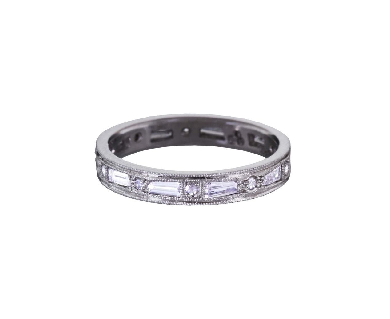 Cathy Waterman – Tapered Diamond Baguette Band In Designers Cathy With Best And Newest Baguette Diamond Twist Wedding Bands (View 8 of 15)