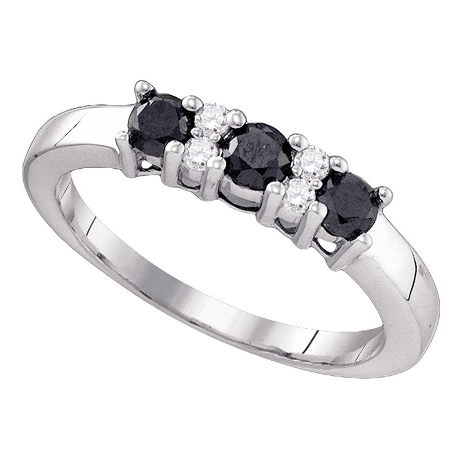 Cheap 5 Stone Diamond Anniversary Ring, Find 5 Stone Diamond Pertaining To Latest Enhanced Black Diamond Anniversary Bands In 10K White Gold (View 13 of 15)