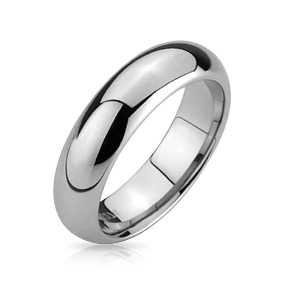 Comfort Fit Unisex Tungsten Wedding Band Ring 5mm With Regard To Most Popular Tungsten Wedding Bands (View 4 of 15)
