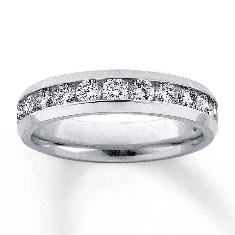 Diamond Anniversary Band 1 Ct Tw Round Cut 14k White Gold With 2017 Diamond Channel Set Anniversary Bands (View 7 of 15)