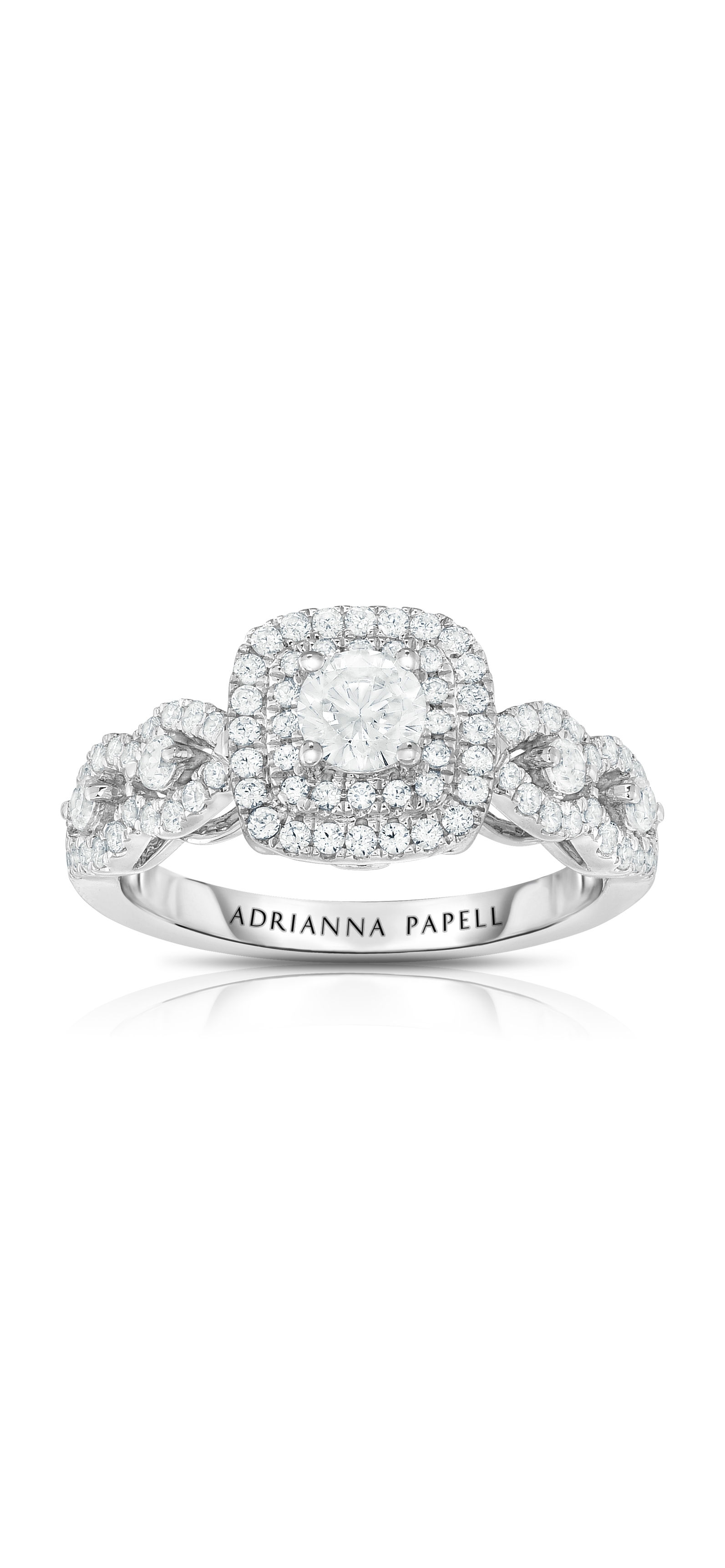 Diamond Engagement Ring Collection In Partnership With Zales Outlet In Most Recently Released Diamond Double Frame Vintage Style Rings (Gallery 9 of 15)