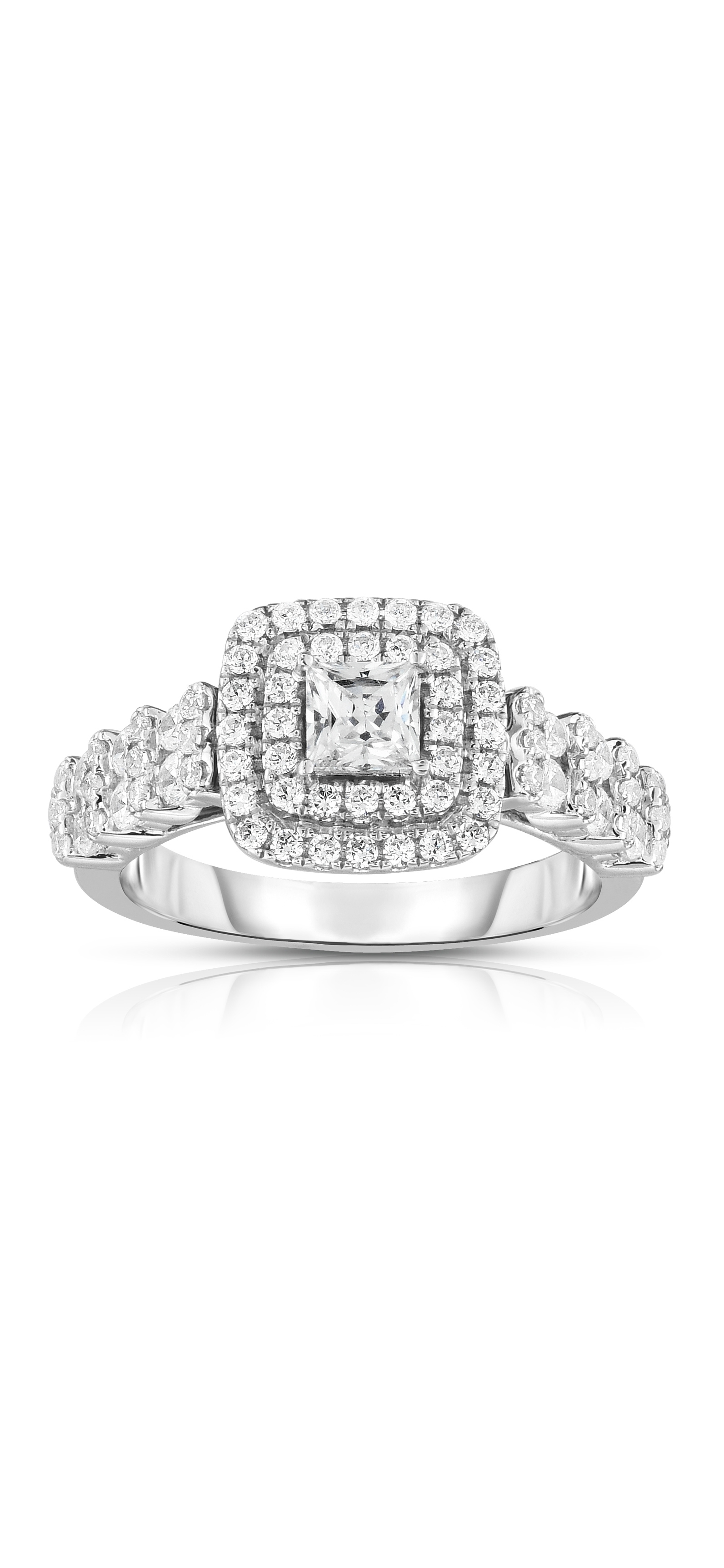 Diamond Engagement Ring Collection In Partnership With Zales Outlet In Most Recently Released Diamond Double Frame Vintage Style Rings (Gallery 8 of 15)