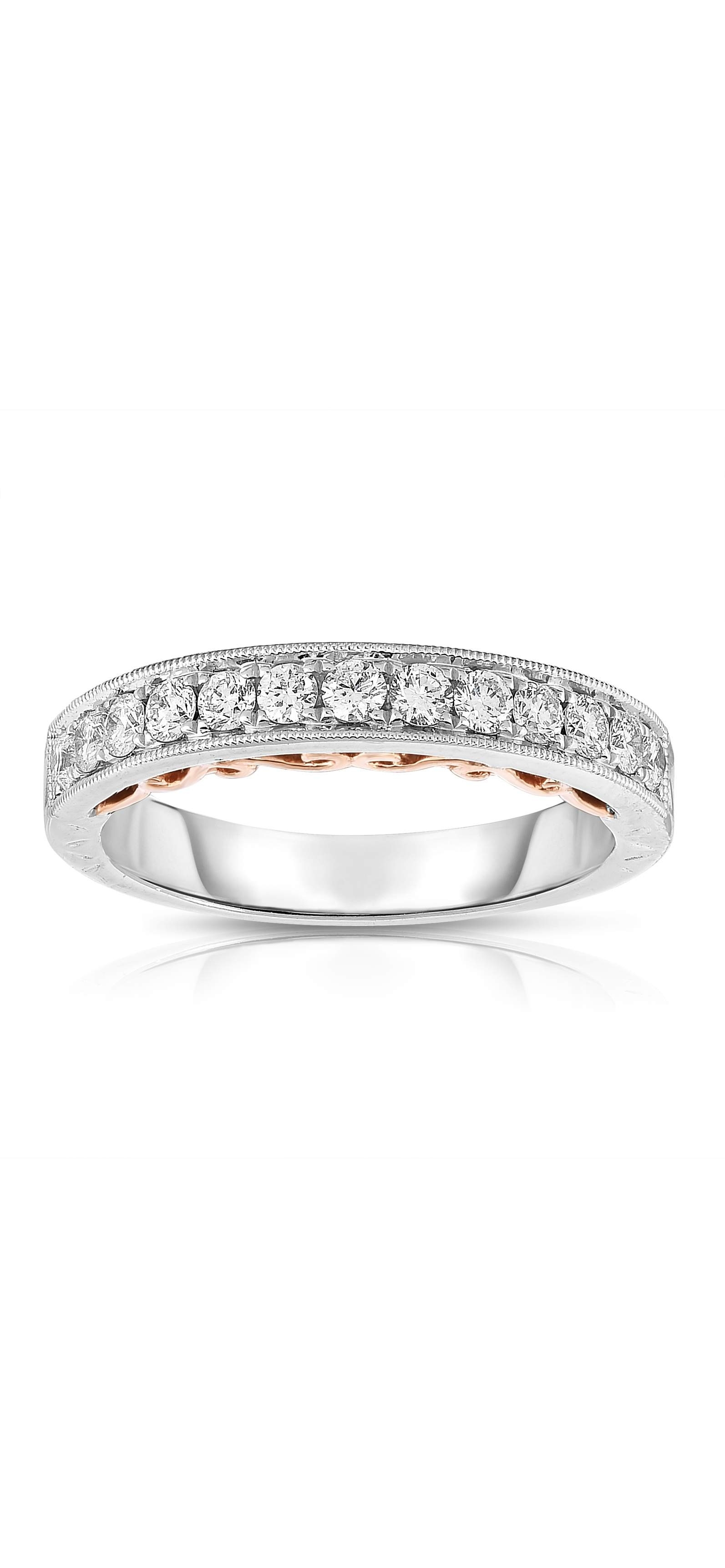 Diamond Engagement Ring Collection In Partnership With Zales Outlet Throughout 2018 Diamond Vintage Style Contour Wedding Bands In 14k White Gold (View 2 of 15)