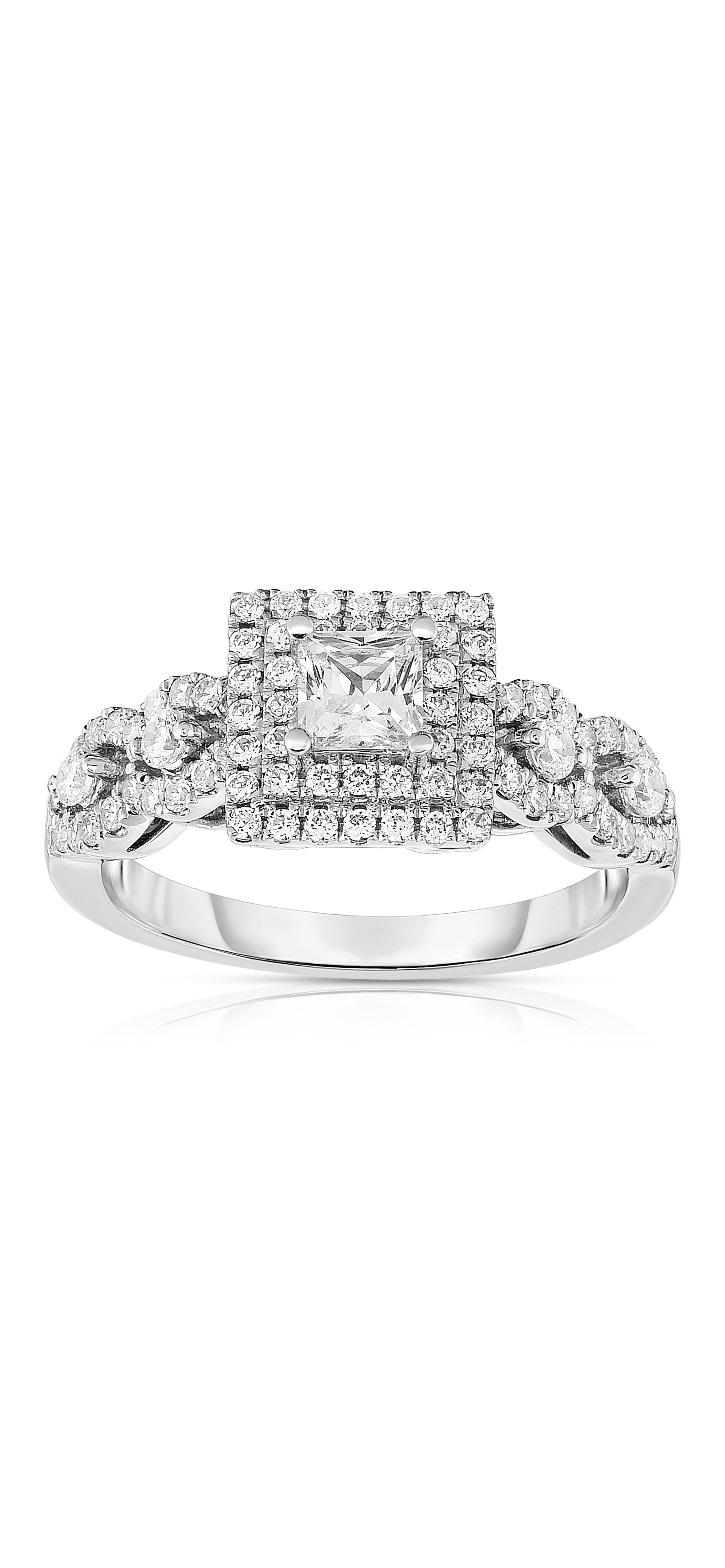 Diamond Engagement Ring Collection In Partnership With Zales Outlet Within Most Recent Diamond Double Frame Vintage Style Rings (View 9 of 15)