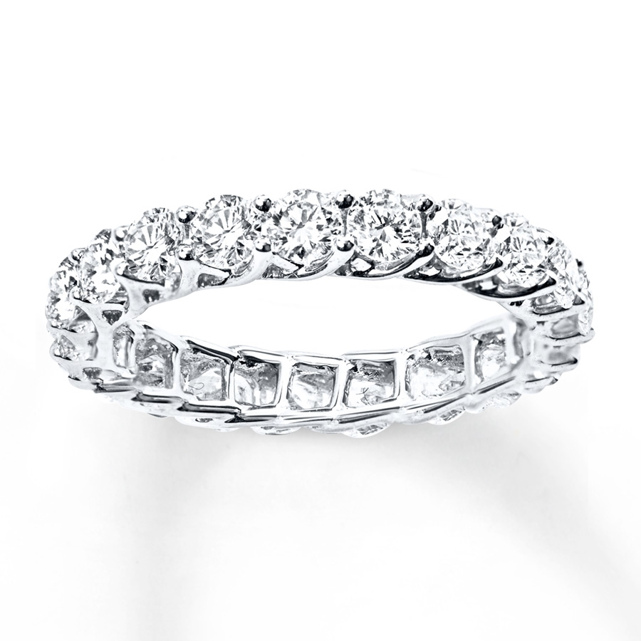 Diamond Eternity Ring 2 Ct Tw Round Cut 14K White Gold – 53239820799 Regarding Most Popular Diamond Eternity Wedding Bands In 14K White Gold (Gallery 6 of 15)