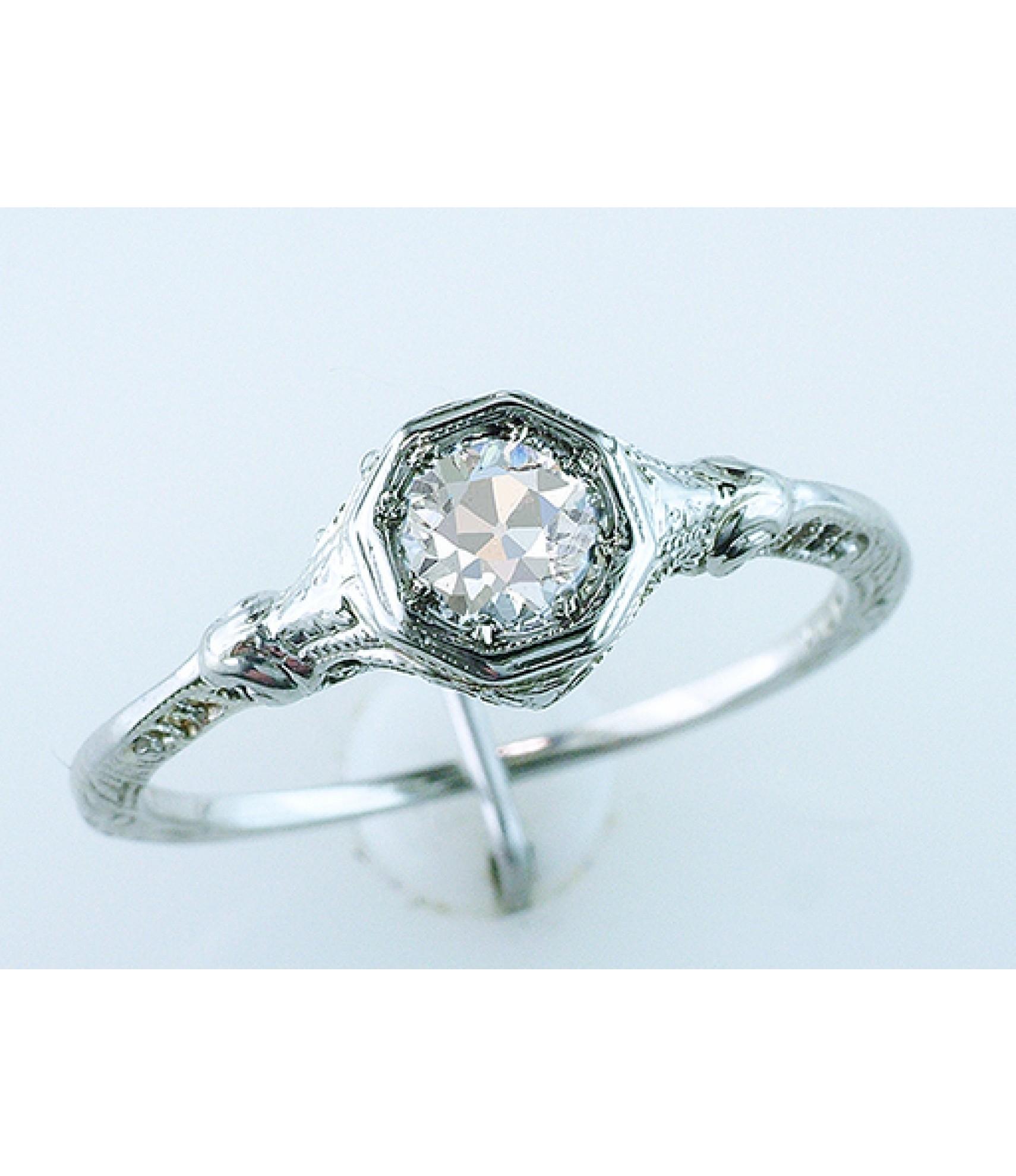 Diamond Ten Vintage Antique Gia Certified  (View 5 of 15)