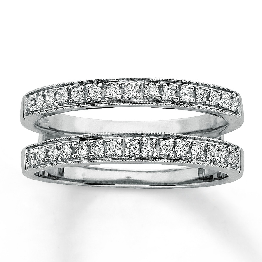 Diamond Wedding Bands 1/3 Ct Tw Round Cut 14K White Gold – 80198928 With Regard To 2017 Diamond Double Row Anniversary Bands In 14K White Gold (View 8 of 15)
