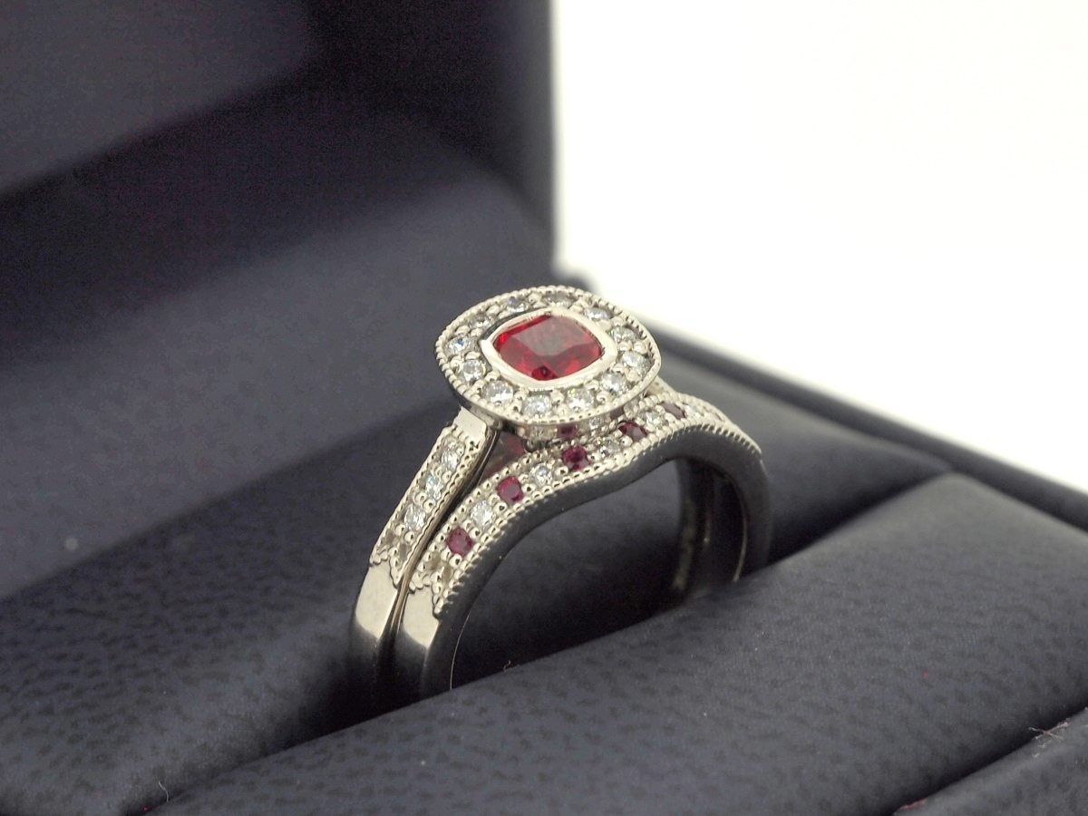 Durham Rose – Custom Engagement Rings – Design Your Own Regarding Most Up To Date Vintage Style Ruby And Diamond Rings (Gallery 7 of 15)