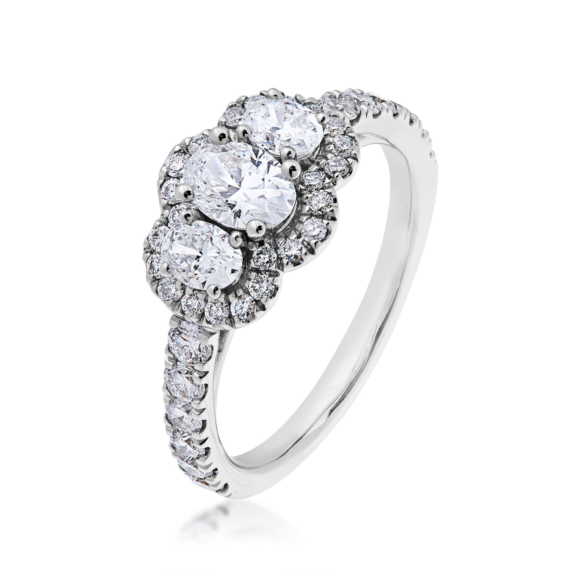 Elegant Engagement Rings – Choose Classic Style With This 3 Stone Regarding Most Recently Released Lab Created Ruby Five Stone Anniversary Bands (View 12 of 15)