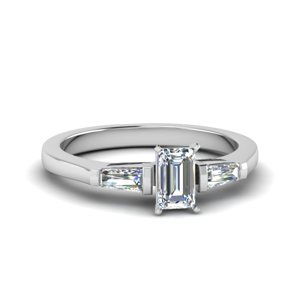 Emerald Cut Engagement Rings | Fascinating Diamonds Pertaining To Most Current Emerald And Diamond Three Row Reversible Anniversary Bands In 14K Gold (Gallery 2 of 15)