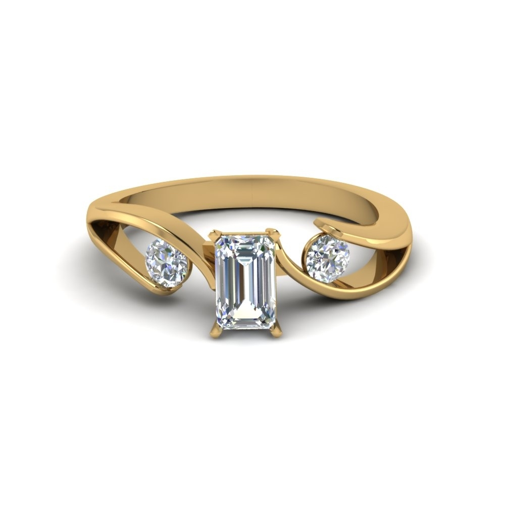 Emerald Cut Engagement Rings | Fascinating Diamonds With Regard To Best And Newest Emerald And Diamond Three Row Reversible Anniversary Bands In 14K Gold (View 4 of 15)