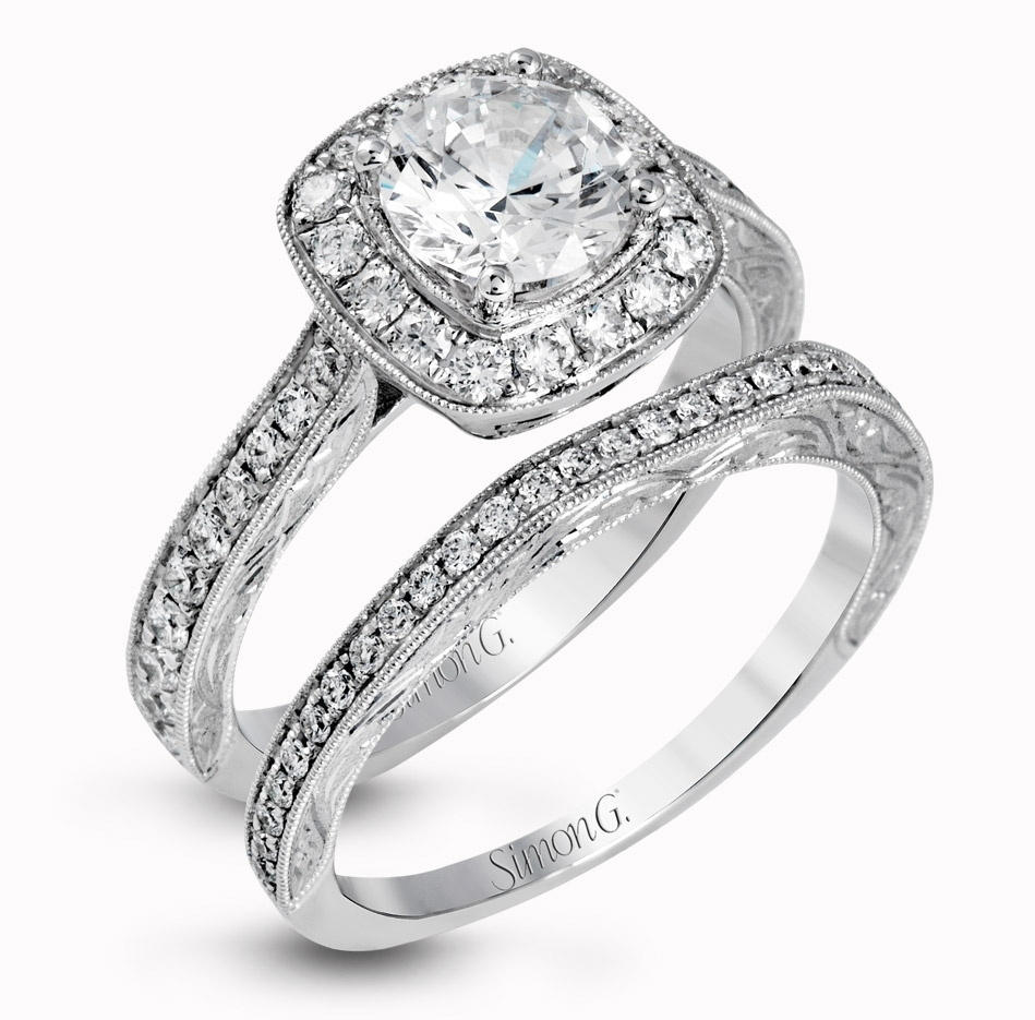 Engagement Ring Styles For Every Bridewedding Inspirasi | Simon Regarding Most Recent Diamond Eleven Stone Vintage Style Anniversary Bands (View 4 of 15)