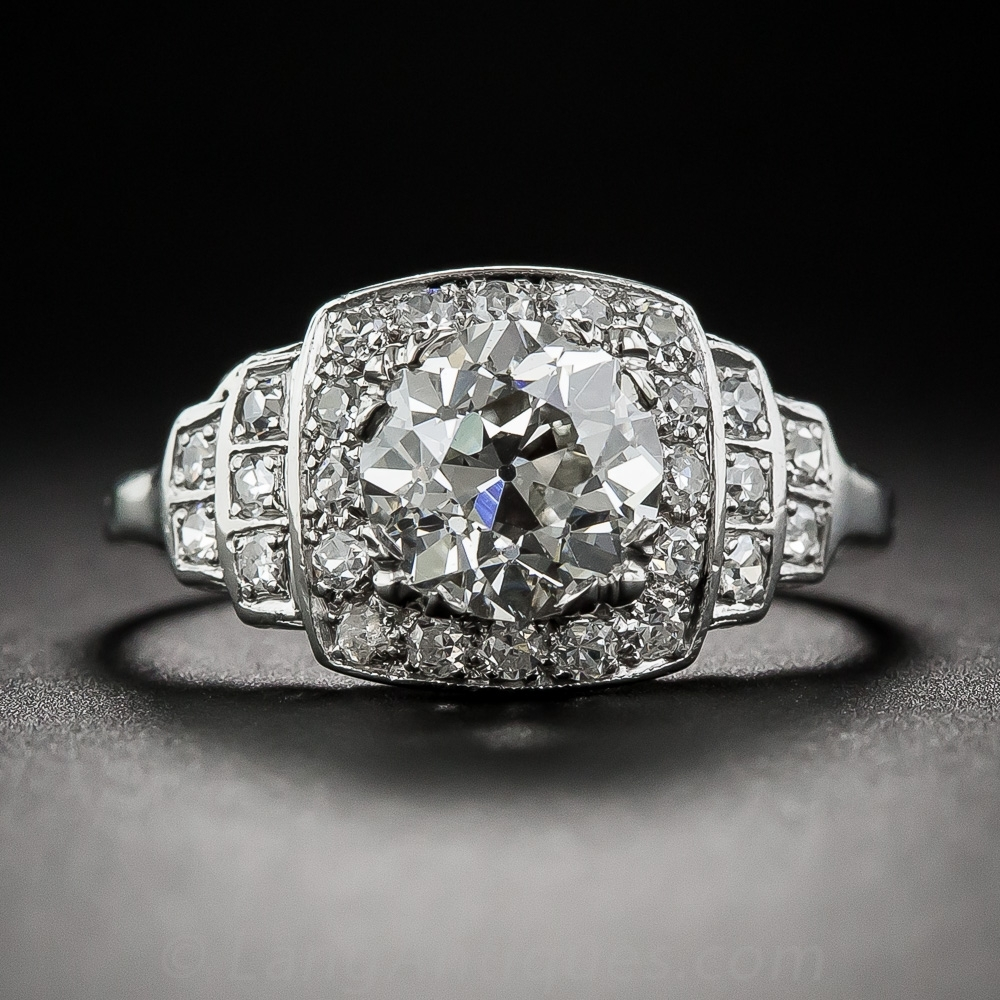 Engagement Ring Styles Intended For 2018 Diamond Art Deco Vintage Style Anniversary Bands (View 6 of 15)