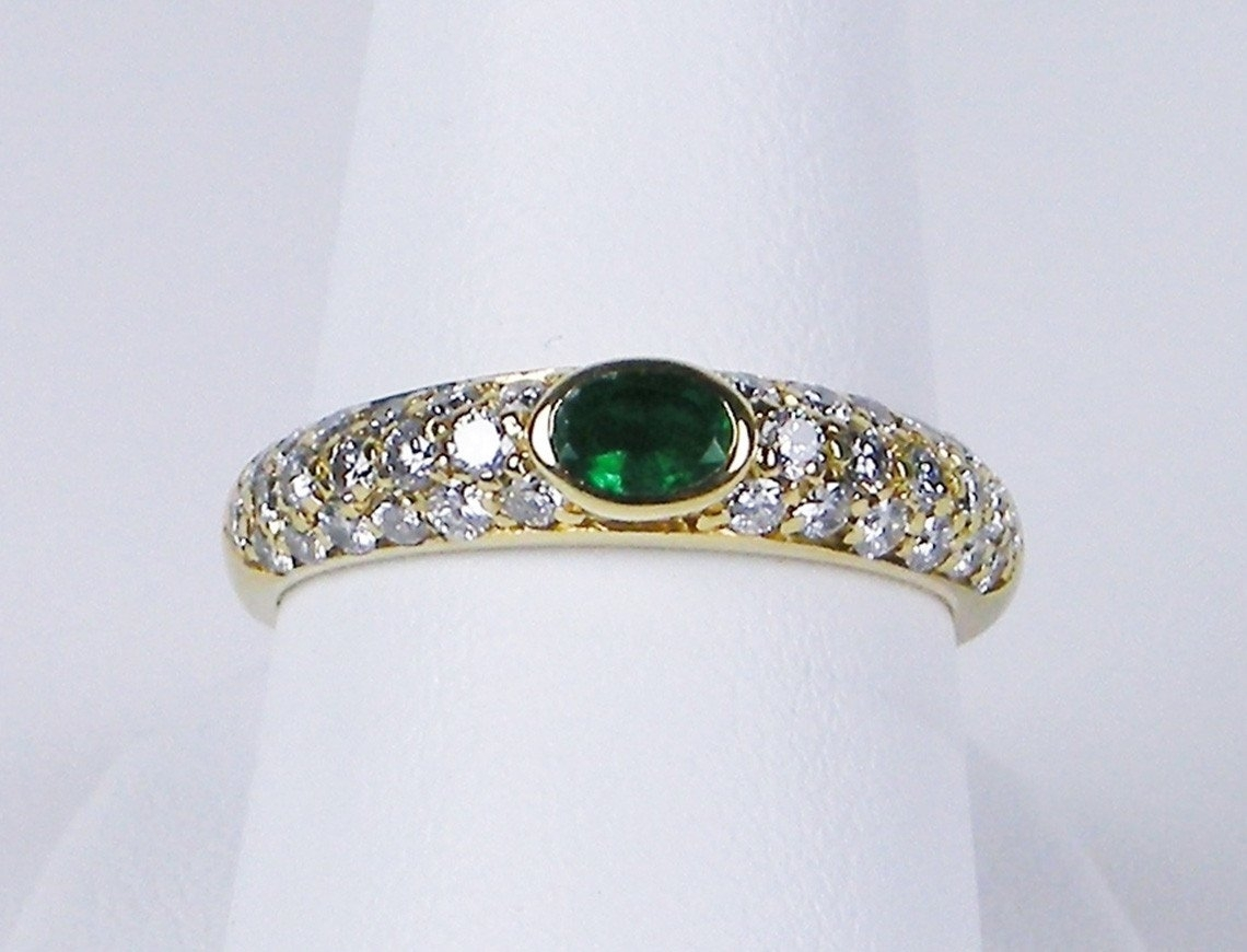 Gleim The Jeweler — Estate Jewelry  Antique, Retro, Vintage With Regard To Current Emerald And Diamond Three Row Reversible Anniversary Bands In 14K Gold (View 11 of 15)