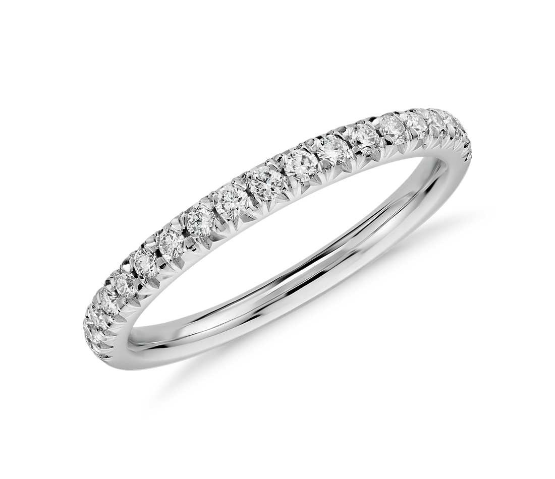 Half Way Diamond Eternity Band Ring In 14K White Gold ( (View 11 of 15)