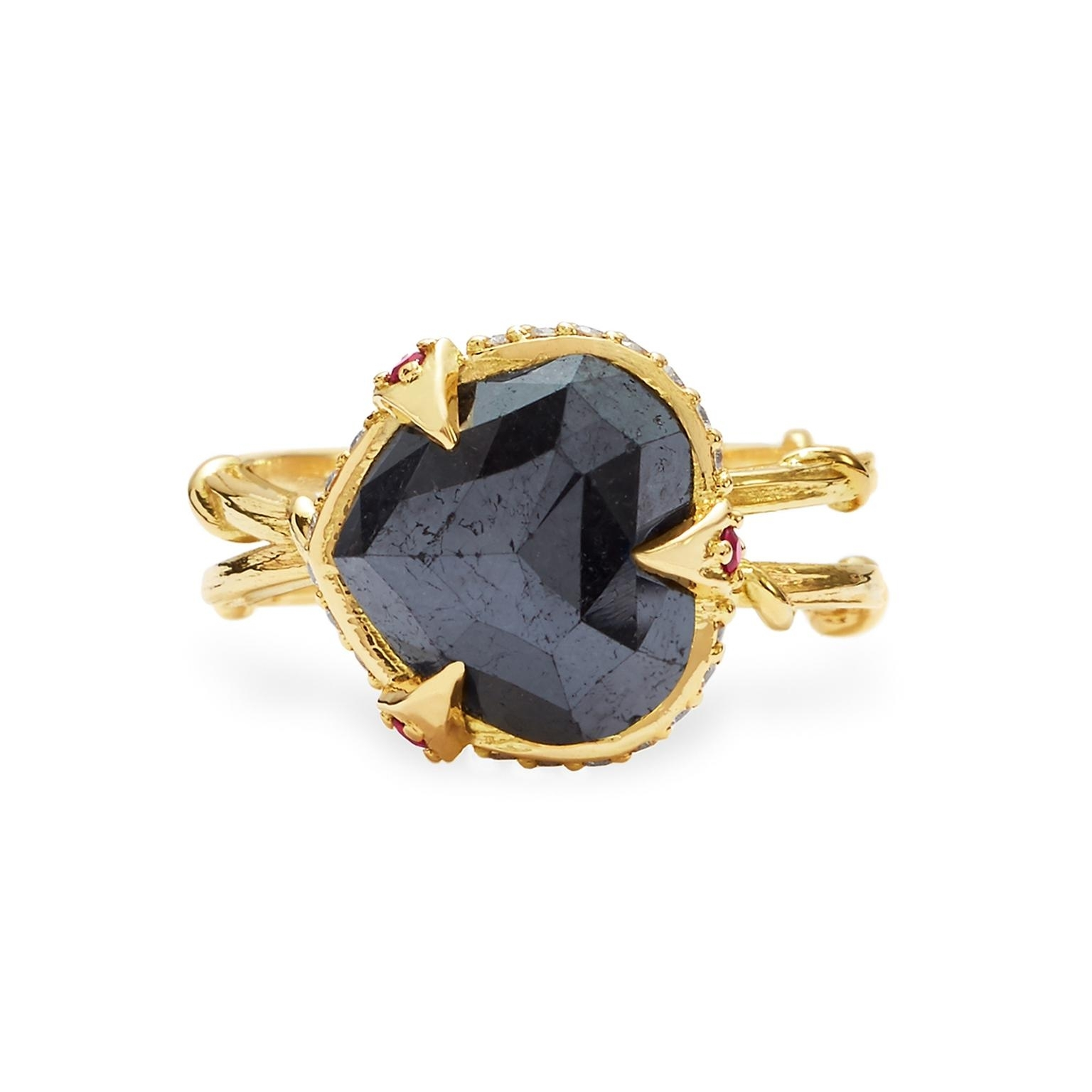Intrique Crown Black Diamond Engagement Ring | Karen Karch | The In Most Popular Vintage Style Black Diamond Engagement Rings (View 7 of 15)