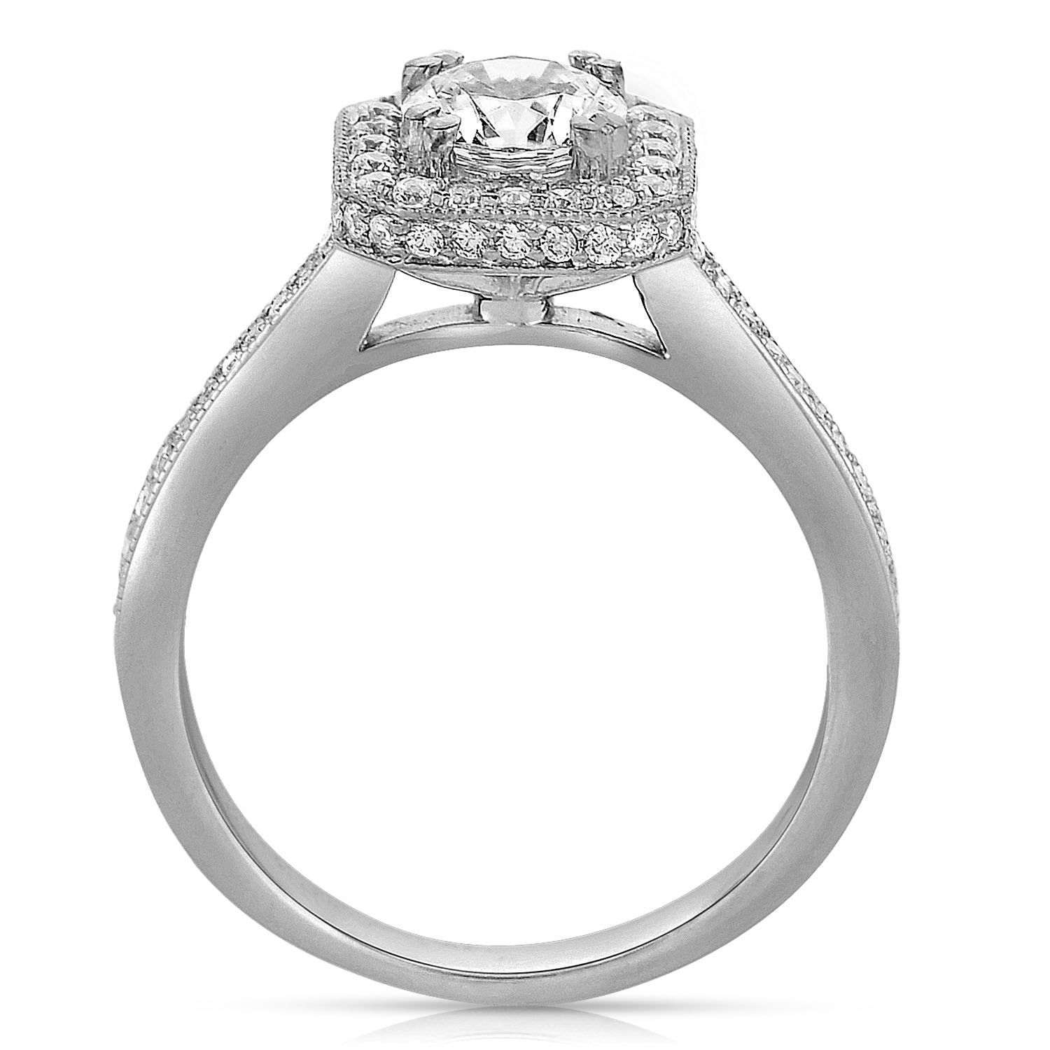 Ladies' 14K White Gold Diamond Engagement Ring (View 5 of 15)