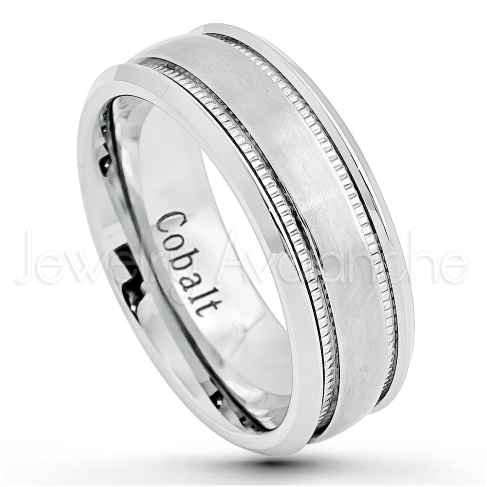 Lashbrook Cc9Dge Polish Cobalt Chrome Wedding Ring Or Band Chrome Regarding Latest Polished Comfort Fit Cobalt Chrome Wedding Bands (View 7 of 15)