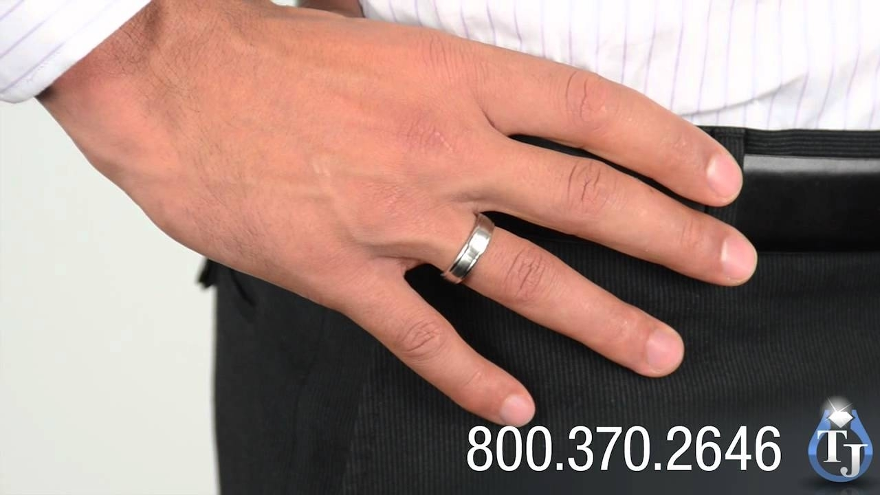 Mens Cobalt Chrome Ringbenchmark, Valdus Classic Style 6Mm – Youtube With Best And Newest Satin Center Bevel Edged Wedding Band In Cobalt (View 7 of 15)