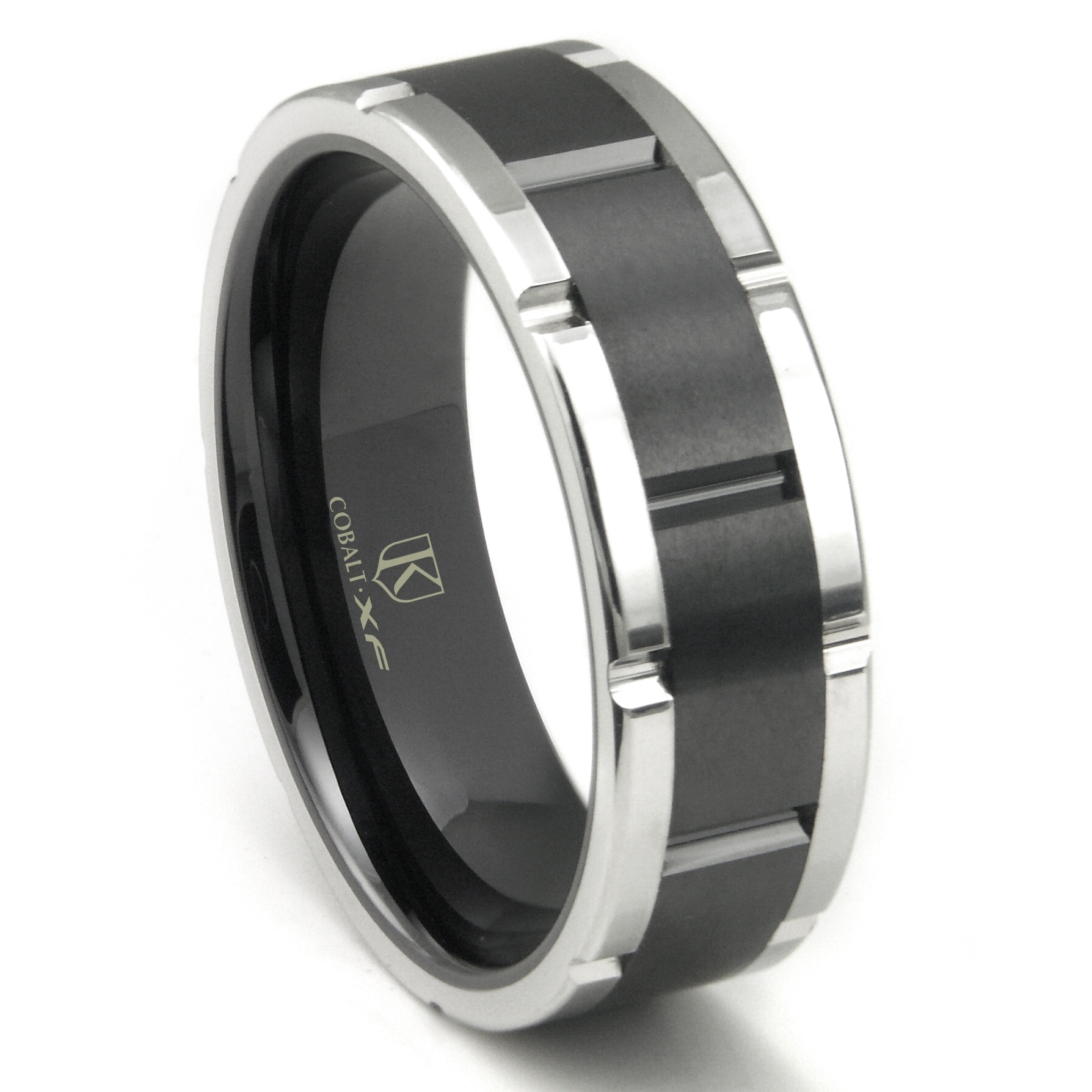 Mens Cobalt Chrome Wedding Band Domed Polished – Calixte Works In Most Up To Date Polished Comfort Fit Cobalt Chrome Wedding Bands (View 15 of 15)