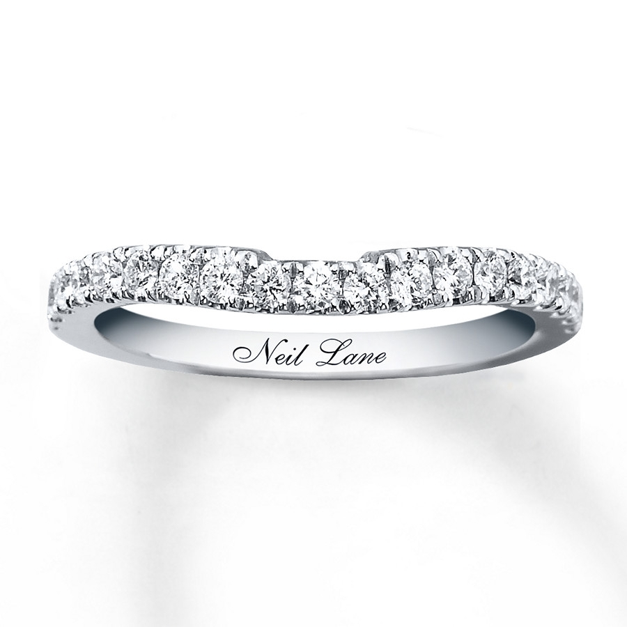 Neil Lane Wedding Band 3/8 Ct Tw Diamonds 14K White Gold Pertaining To Best And Newest Diamond Contour Wedding Bands In 14K White Gold (View 10 of 15)