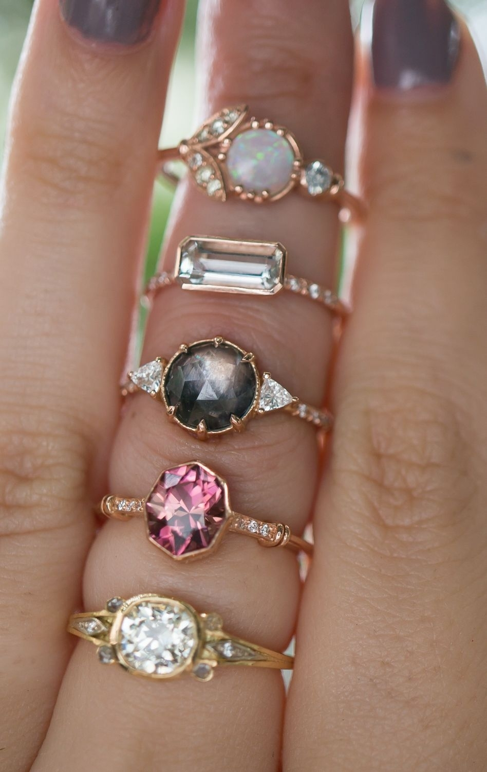 Non Traditional Vintage Inspired Engagement Ring Styles! | Gorgeous Within Most Recent Vintage Style Non Diamond Engagement Rings (Gallery 3 of 15)
