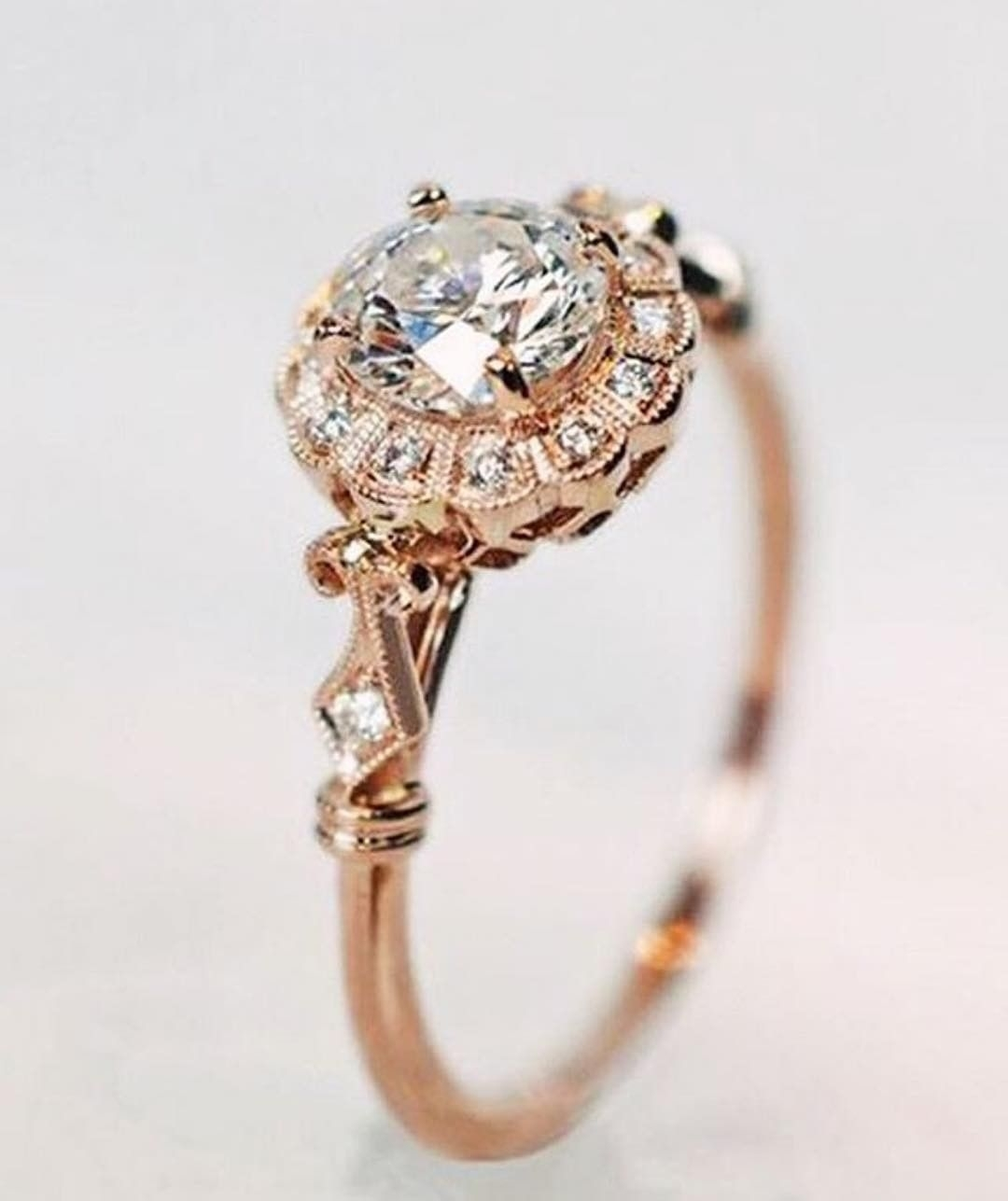 Featured Photo of Vintage Style Rose Gold Engagement Rings
