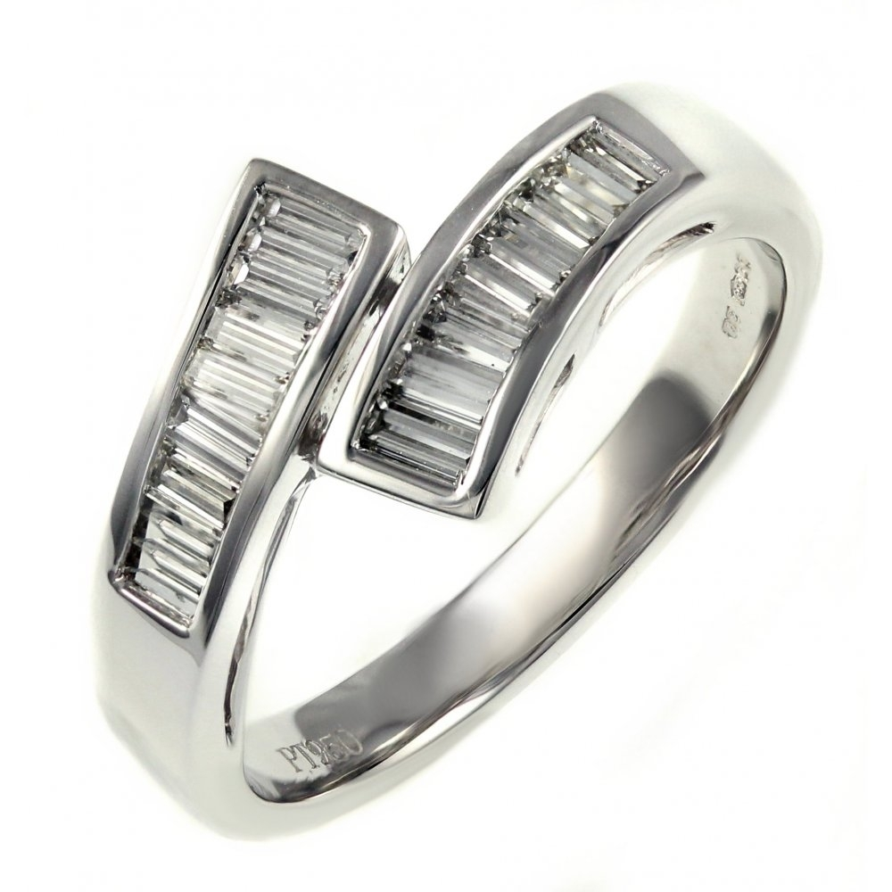 Featured Photo of Baguette Diamond Twist Wedding Bands