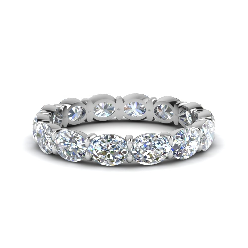 Popular Diamond Eternity Rings | Fascinating Diamonds With Most Recently Released Emerald And Diamond Three Row Reversible Anniversary Bands In 14K Gold (View 13 of 15)