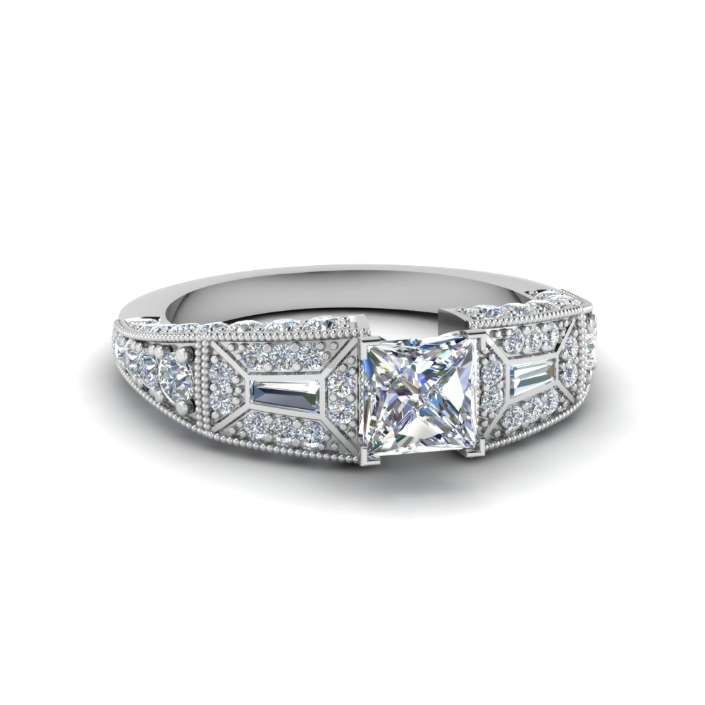 Featured Photo of Vintage Style Princess Cut Diamond Engagement Rings