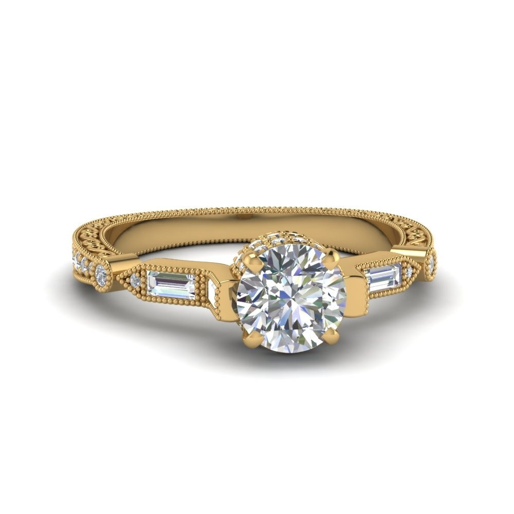 Featured Photo of Gold Vintage Style Diamond Rings
