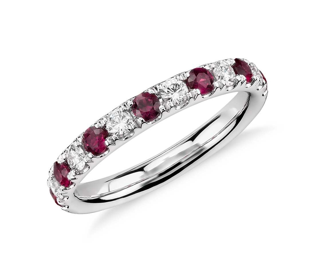Ruby Eternity Diamond Rings | Wedding, Promise, Diamond, Engagement Regarding 2017 Ruby And Diamond Eternity Bands In Platinum (View 14 of 15)