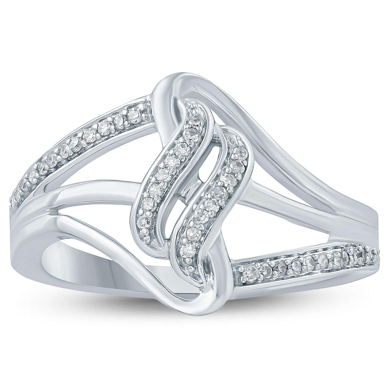 Featured Photo of Diamond Wave Vintage Style Anniversary Bands In 10K White Gold